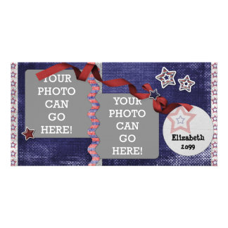 4th July USA American Patriotic Stars Designer Card