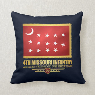 4th Missouri Infantry Throw Pillow