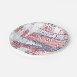 4th Of July 7 Inch Paper Plate