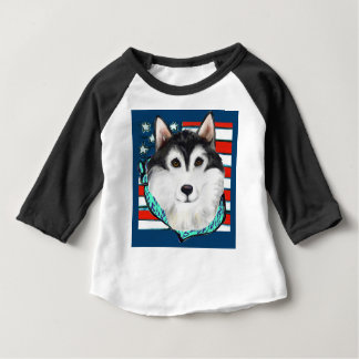 4th of July Alaskan Malamute Baby T-Shirt
