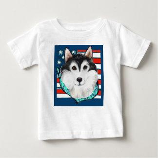 4th of July Alaskan Malamute Baby T-Shirt