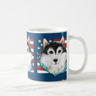 4th of July Alaskan Malamute Coffee Mug