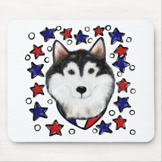 4th of July Alaskan Malamute Mouse Pad
