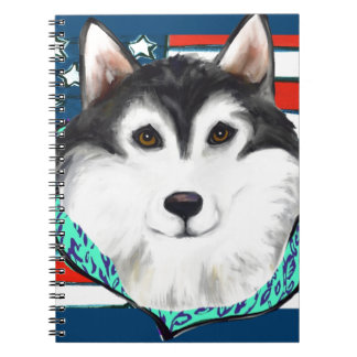 4th of July Alaskan Malamute Notebooks