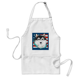 4th of July Alaskan Malamute Standard Apron