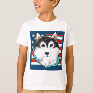 4th of July Alaskan Malamute T-Shirt