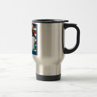 4th of July Alaskan Malamute Travel Mug