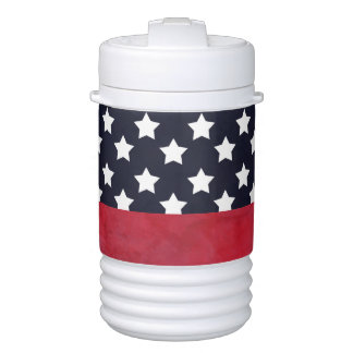4th of July American Flag Independence Day Cooler