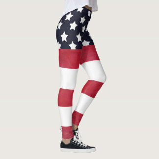 4th of July American Flag Independence Day Leggings