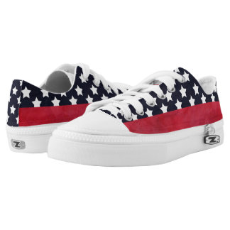 4th of July American Flag Independence Day Low-Top Sneakers