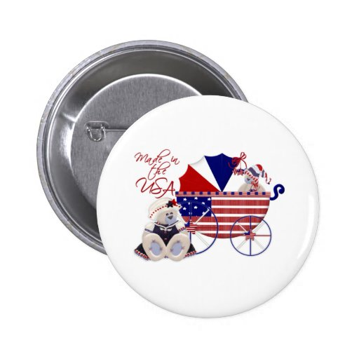 4th Of July Baby Button