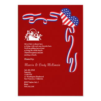 4th of July Barbecue Block Party Invitation