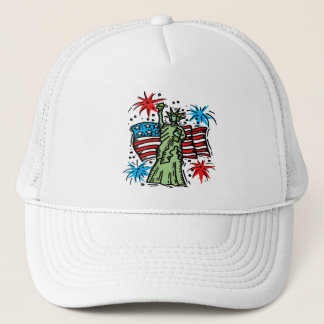 "4th of July Baseball Hat: ""Lady Liberty"" Trucker Hat"