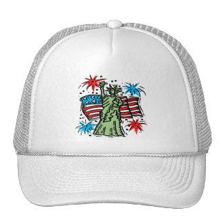 """4th of July Baseball Hat: """"Lady Liberty"""" Trucker Hat"""