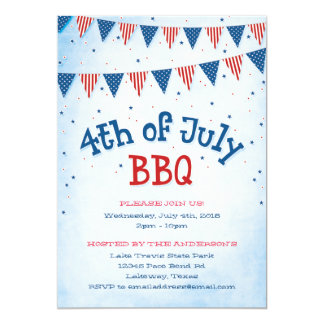 4th of July BBQ Bunting Card