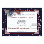 "4th of July BBQ Party 5"" X 7"" Invitation Card"