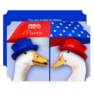 4th of July BBQ Party Custom Invitations