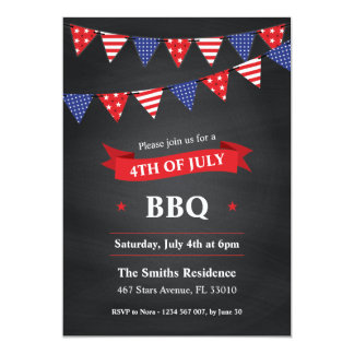 4th of July BBQ Party Invitation