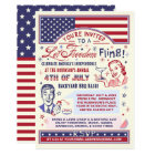 4th of July BBQ Party | Retro Freedom Fling Humour Invitation