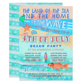 4th of July Beach or Pool Party | Summer Swimming Card