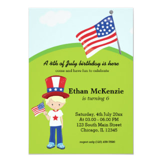 4th of July birthday Card