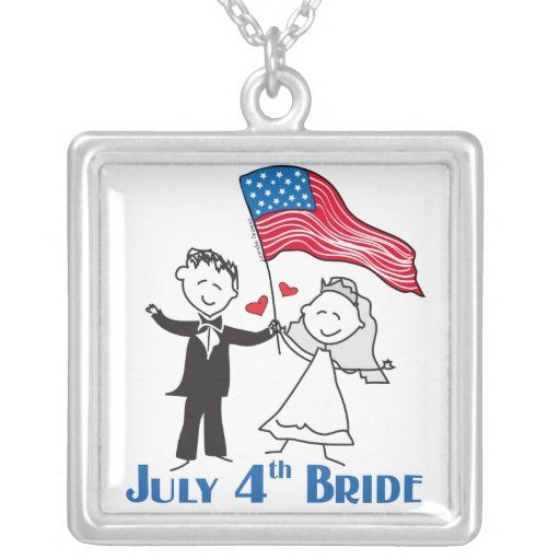 4th of July Bride Pendant Necklace