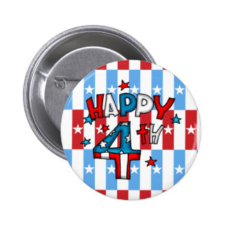 4th of July Pinback Button