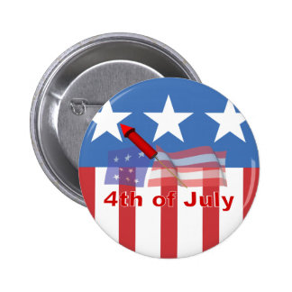 4th of July 2 Inch Round Button