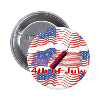 4th of July Pinback Buttons