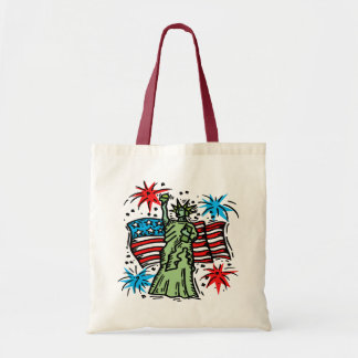 4th of July Canvas Bag: Lady Liberty Tote Bag