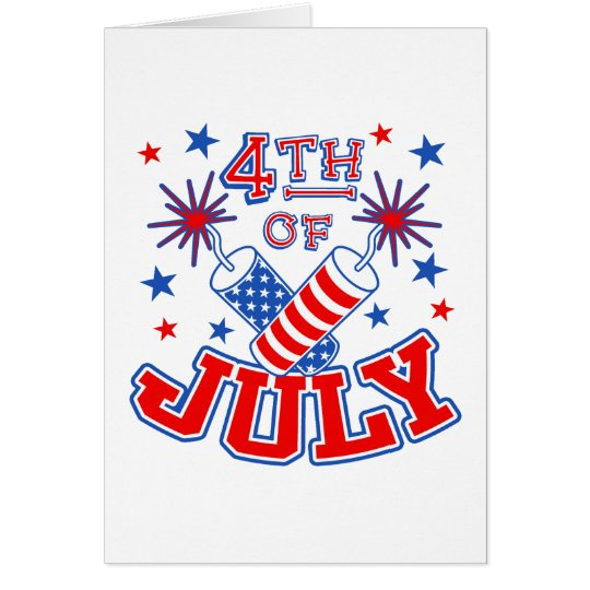 4th of July Card Invitation