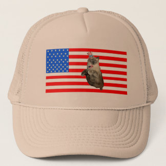 4th of July Cat Trucker Hat