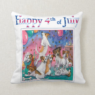 4th of July, designer cushion for dog lover