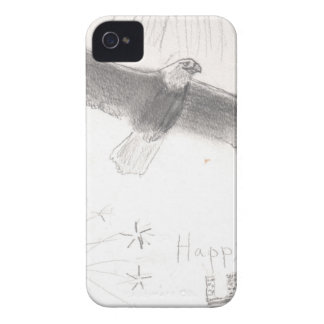 4'th of july fireworks bald eagle drawing eliana.j Case-Mate iPhone 4 case