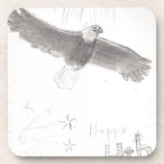 4'th of july fireworks bald eagle drawing eliana.j coaster