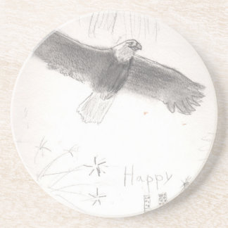 4'th of july fireworks bald eagle drawing eliana.j coaster