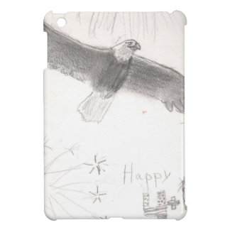 4'th of july fireworks bald eagle drawing eliana.j iPad mini cover