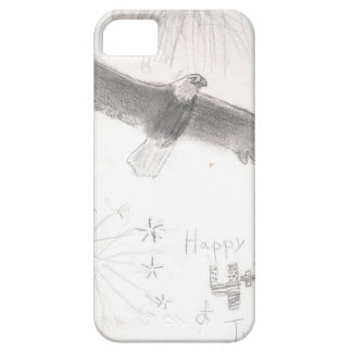 4'th of july fireworks bald eagle drawing eliana.j iPhone 5 case