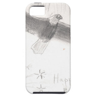 4'th of july fireworks bald eagle drawing eliana.j iPhone 5 cover
