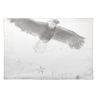 4'th of july fireworks bald eagle drawing eliana.j placemat