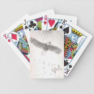 4'th of july fireworks bald eagle drawing eliana.j poker deck