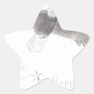 4'th of july fireworks bald eagle drawing eliana.j star sticker