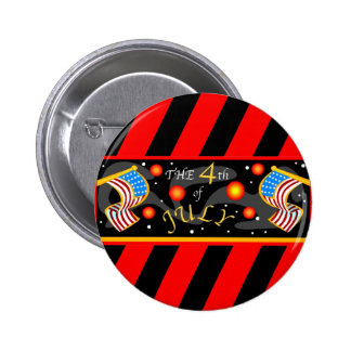 4th of July Fireworks 2 Inch Round Button