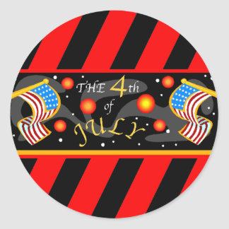 4th of July Fireworks Classic Round Sticker