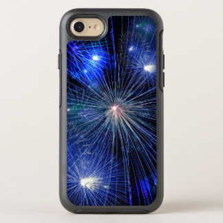4th of July Fireworks in Blue Hue Happy 4th OtterBox Symmetry iPhone 8/7 Case