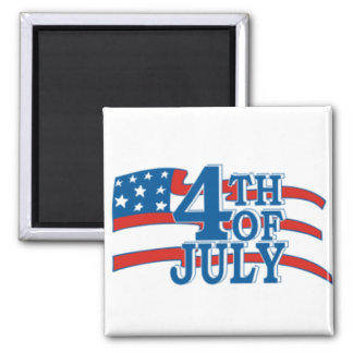 4TH OF July flag Magnet