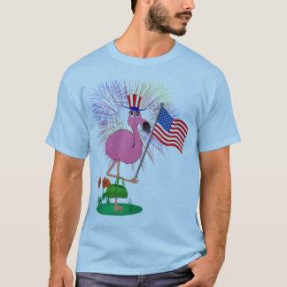 4th of July Flamingo Shirt