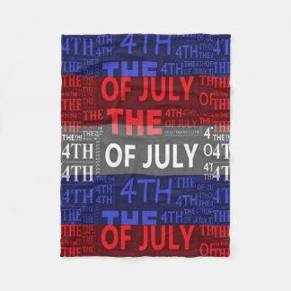 4th of july Fleece Blanket, Small