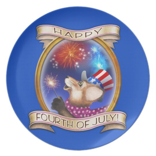 4th of July - Frieda Tails collectable plate
