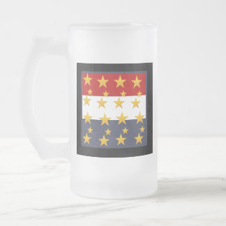 4TH OF JULY FROSTED GLASS BEER MUG